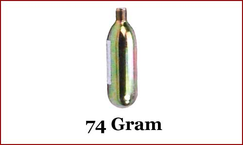 CO2 Cartridge, 74 gram