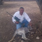 AMVISI Biologist Angel Rojas In Aguascalientes Mexico Darting A Kangaroo Using A JM Special 25